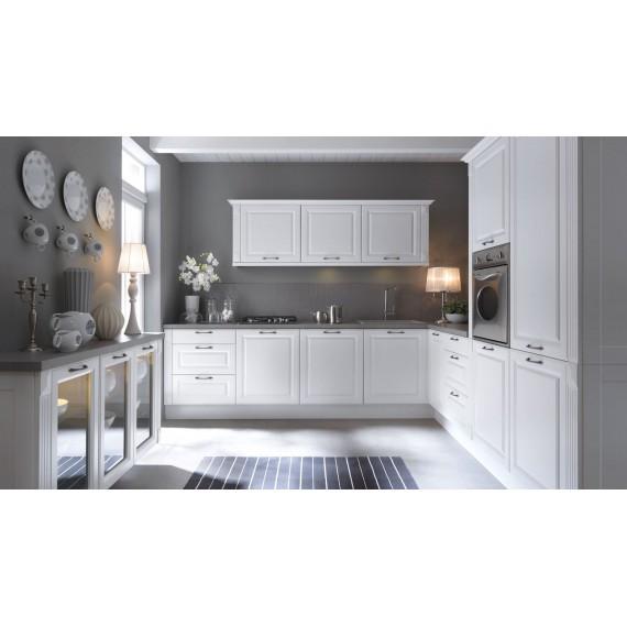Küche 300 cm weiss glatt...