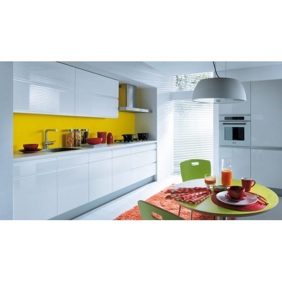 Küche 300 cm Weiss Glanz...
