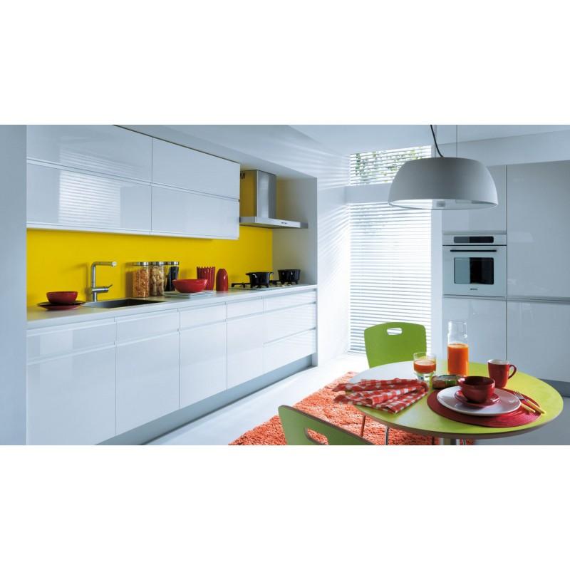 Küche 300 Cm | Kuche 300 Cm Weiss Glanz Mdf Griffleiste Erweiterbar