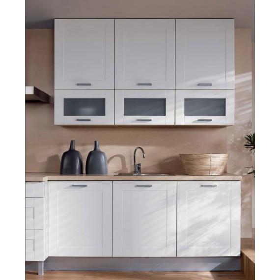 Küche 180 cm Weiss matt MDF...
