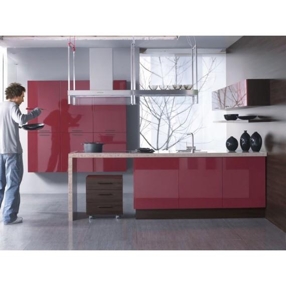 Küche 300 cm Bordeaux Rot...