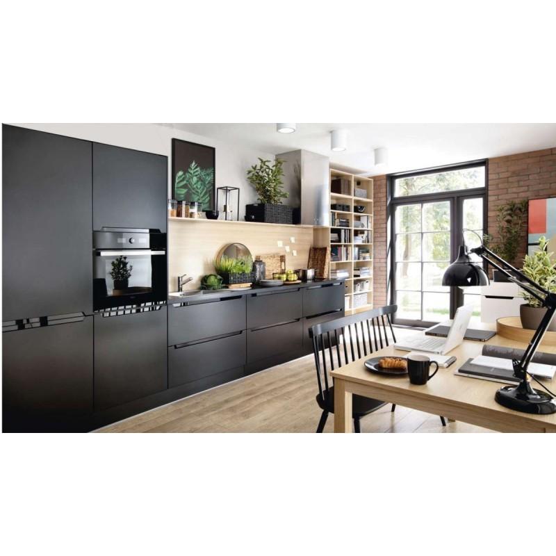 k che schwarz matt fronten erweiterbar. Black Bedroom Furniture Sets. Home Design Ideas