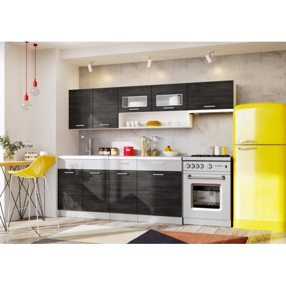 Küche Moreno 240 cm schwarz...